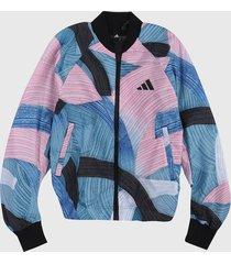chaqueta multicolor adidas performance nini sum graphic bomber