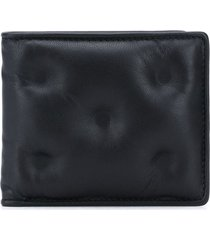 maison margiela padded bi-fold wallet - black