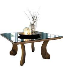 mesa centro 8010 luxo canela madeirado móveis jb bechara