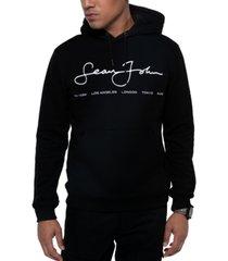 sean john men's regular-fit script logo hoodie