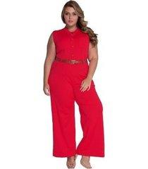 mono informal sin mangas con cuello redondo y cintura alta para mujer con cinturón rojo