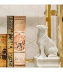 aparador de livros decorativo de porcelana amur