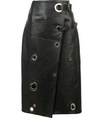 rivet wrap skirt