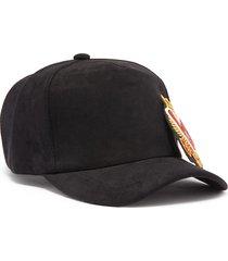 'love' appliqué suede baseball cap