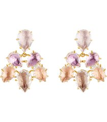 caterina pansy earrings