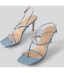 na-kd shoes strappy stiletto sandals - blue