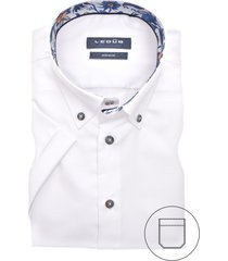 korte mouwen overhemd ledub wit modern fit