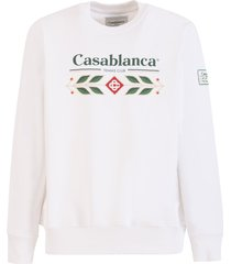 casablanca tennis club logo-print sweatshirt