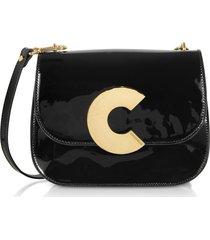 coccinelle designer handbags, craquante rock medium patent leather shoulder bag