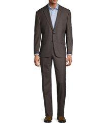 lauren ralph lauren men's regular-fit ultraflex birdseye suit - brown - size 40 r