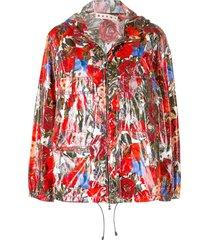 floral zipped jacket