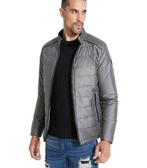 chaqueta ls houston iridescent jacket gris guess