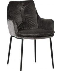 krzesło welurowe kiko dark grey