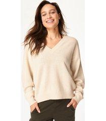 recline wool v-neck jumper