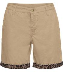 pantaloni chino corti con satin (beige) - bodyflirt boutique