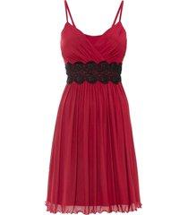 abito in mesh con pizzo (rosso) - bodyflirt