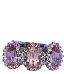 anel armazem rr bijoux mini gotas lilaz prata