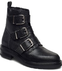 lexi lizard shoes boots ankle boots ankle boot - flat svart pavement