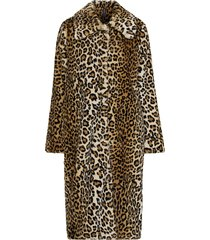 fuskpäls leo faux fur coat, leopardmönstrad