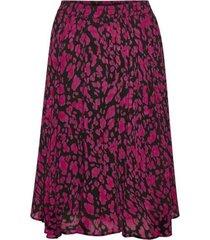 inwear 30104916 clariceiw skirt print rok pink pettunia irregula