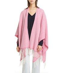 women's rag & bone herringbone wool blend poncho