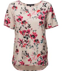 linosa crepe light ss tee blouses short-sleeved rosa french connection