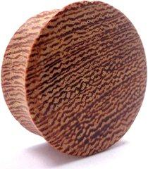 alargador vintage alargadores de madeira cerejeira 06mm - 08mm