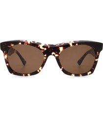 bottega veneta bottega veneta bv1061s havana sunglasses