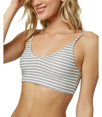 o'neill juniors' raven stripe bralette bikini top, created for macy's women's swimsuit