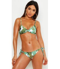 mix & match beverly hills tie side bikini brief, green