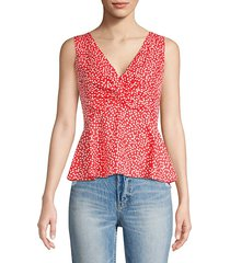 malia twist sleeveless floral tank top