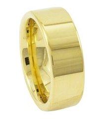 aliança de tungstênio new tungsten 8mm reta gold