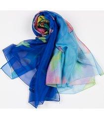 womens chiffon sciarpe di seta fazzoletto da collo in raso multifunzione sciarpa avvolgente foulard femminile