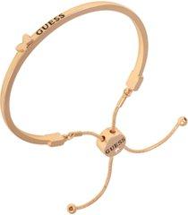 guess gold-tone butterfly logo bolo bracelet