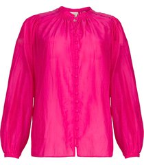 blouse met pofmouwen ginni  roze