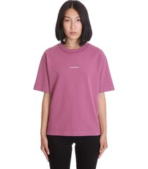 acne studios edie stamp t-shirt in viola cotton