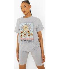 sunshine t-shirt, grey marl