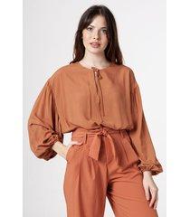 blusa marrón symmetria lidan