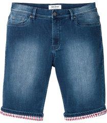 bermuda in felpa effetto jeans regular fit (blu) - john baner jeanswear