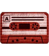 capacho carpet fita antiga vermelho ãšnico love decor - vermelho - dafiti