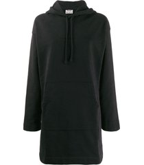 acne studios oversized hoodie dress - black