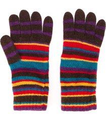 paul smith striped gloves - multicolour
