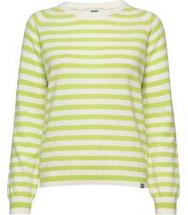 dream wool stripe kaxa gebreide trui groen mads nørgaard