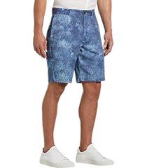 joseph abboud blue paisley modern fit shorts
