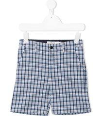 bonpoint teen plaid-check shorts - blue
