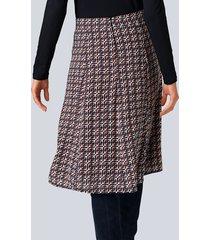 kjol alba moda marinblå::orange