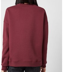 ganni women's isoli sweatshirt - port royale - l/xl