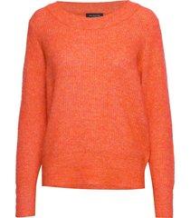slfsif ls knit o-neck b gebreide trui oranje selected femme