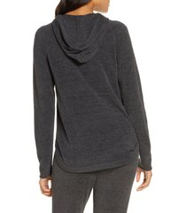 women's barefoot dreams cozychic(tm) ultra lite pullover hoodie, size x-small - grey