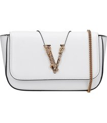 versace clutch in white leather